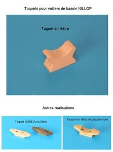 NILLOP-Bateau-voilier-de-bassin-Reproduction-taquet-en-hetre