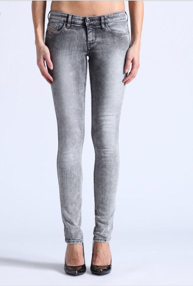 Diesel Women's Skinzee Low Super Slim Skinny Low Waist Jeans 28 x 32