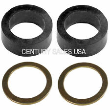 "SET EPDM GAUGE GAGE SIGHT-GLASS WASHERS GASKETS & ANODIZED WASHERS 5/8"" ID"