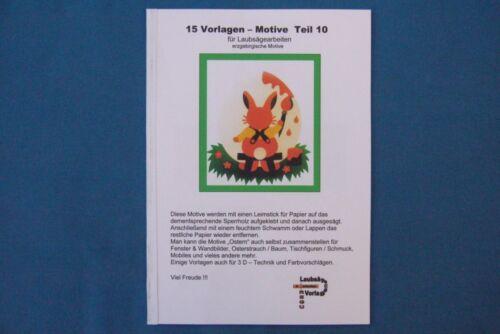 15 VORLAGEN für LAUBSÄGE - erzgebirg. Motive Teil 10 - REGU - Laubsägevorlagen +