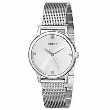 Guess U0532L1 Women's Diamond Silver Dial SS Mesh Bracelet Watch