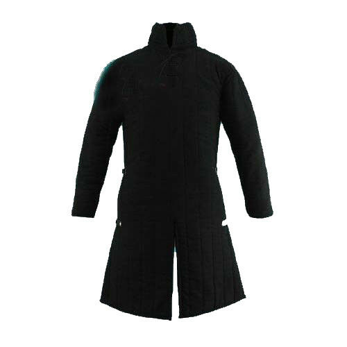 Thick Padded Black Medieval Gambeson Jacket COSTUMES DRESS Halloween Gift