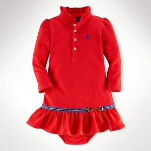 New ralph lauren christmas red girls smart dress knickers 6 9 m ebay