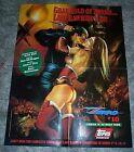 Sexy original 1994 Zorro v Lady Rawhide Topps Comics promo poster:Julie Bell art