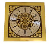 9 7/8 Fancy Filigree Gold & Brown Metal Clock Dial (dm-16)