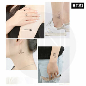 BTS-BT21-Official-Authentic-Goods-TATTOO-Sticker-2P-Tracking-Number