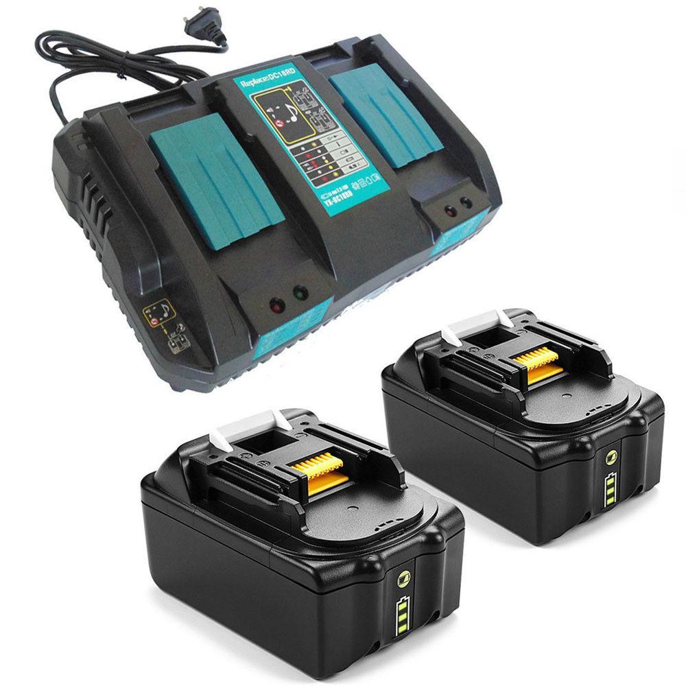 2x 4.0AH 18V Akku für Makita BL1830B BL1840B BL1815 Li-Ion+Ladegerät DC18RD De