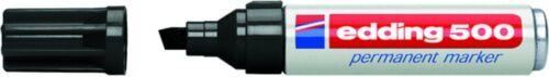 5 Stück Edding 500 Permanent-Marker schwarz Keilspitze 2-7mm Filzstift NEU