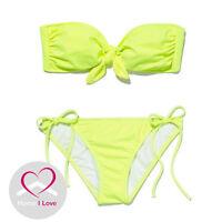 Authentic Victoria's Secret Classic Neon Citrus Bandeau Bikini Size M