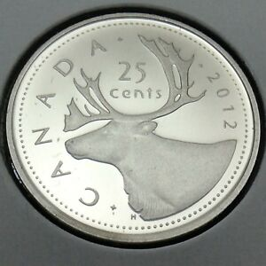 2012-Canada-Nickel-Proof-25-Cents-Quarter-Canadian-Uncirculated-Coin-E207