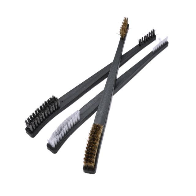 Draht Bürsten Satz Messing Nylon rostfreies Borsten Reinigungs Werkzeug  X