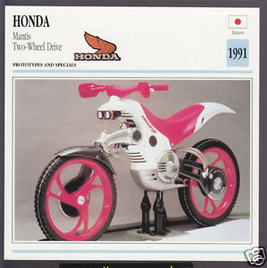 1991 honda mantis 2-wheel drive japan prototype motorcycle photo