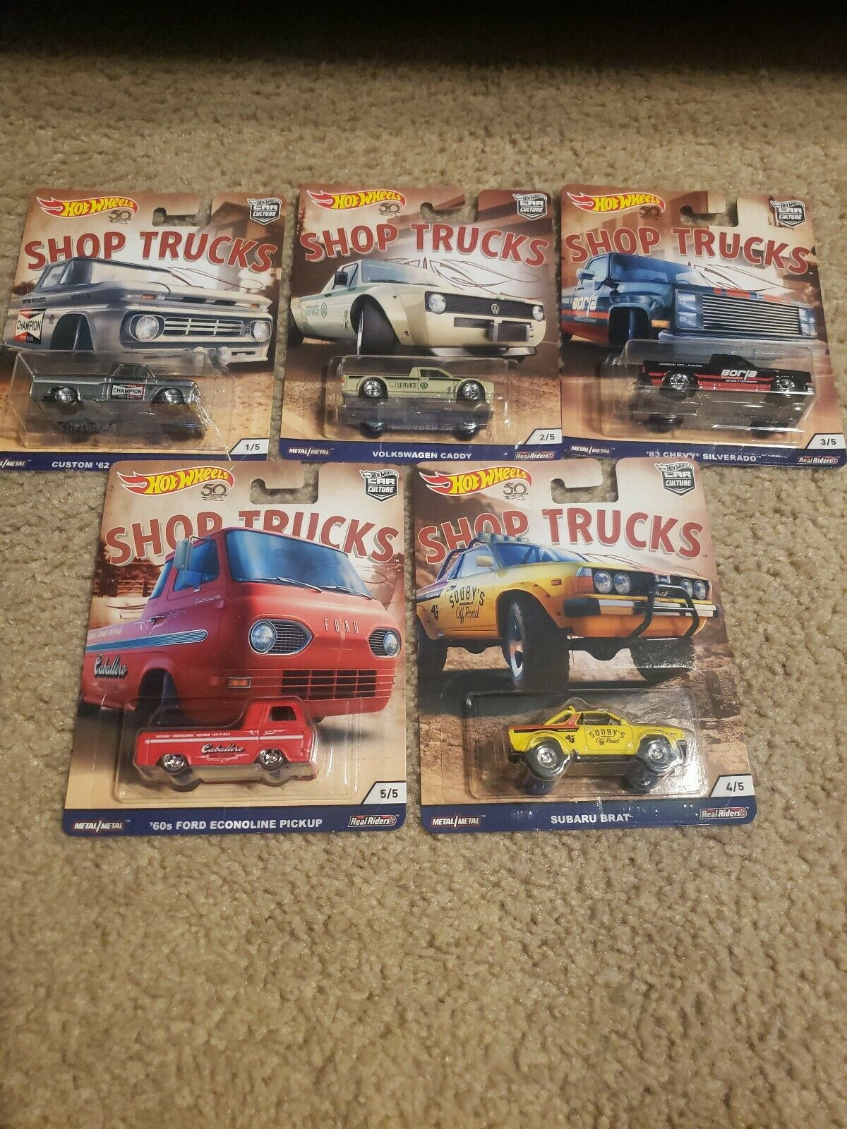 Hot wheels car culture shop trucks set