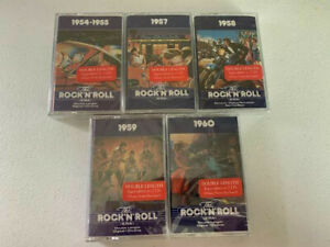 Time-Life-Music-The-Rock-N-Roll-Era-Cassette-Lot-5-New-Sealed-Cassettes