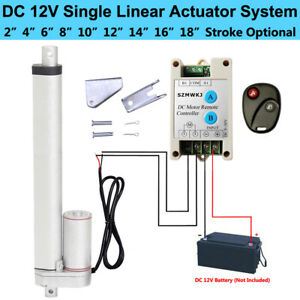 "Water Resistant Linear Actuator 14/"" Stroke 12 Volt DC 200LB Lift Heavy Duty 12V"