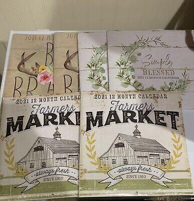 Dollar Tree 2021 Calendar Set Of 6, Farmer's Market, Be ...