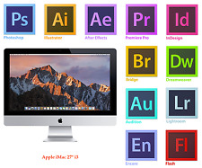 APPLE iMAC 27 inch, i3 12GB Adobe Photoshop,Illustrator,Indesign,MS Office 2016