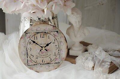 Wanduhr Uhr Clock Rosen Rose Shabby Chic Vintage Landhaus