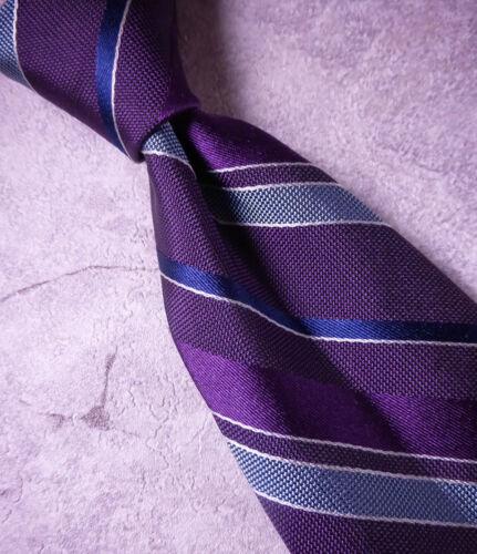 BROOKS BROTHERS Silk Tie Purple Blue White Stripe  MSRP $89.50 ~ NEW NWT USA
