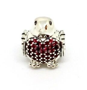 c81a434c3 Image is loading Genuine-Authentic-Pandora-Red-Robin-Bird-Charm-S925-