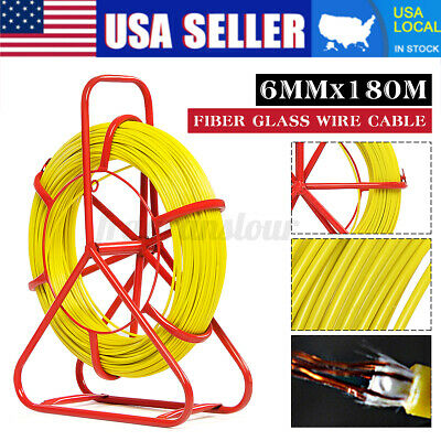 6mm 150m Fiber Glass Wire Cable Snake Running Rod Duct Rodder Pull Traceable