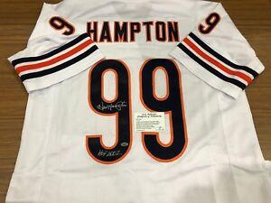DAN HAMPTON SIGNED HOF AUTO JERSEY CHICAGO BEARS LEAF CERT | eBay