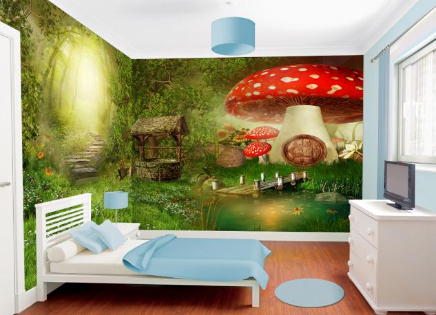 3D ROT Mushroom 464 Wallpaper Murals Wall Print Wallpaper Mural AJ WALL AU Lemon