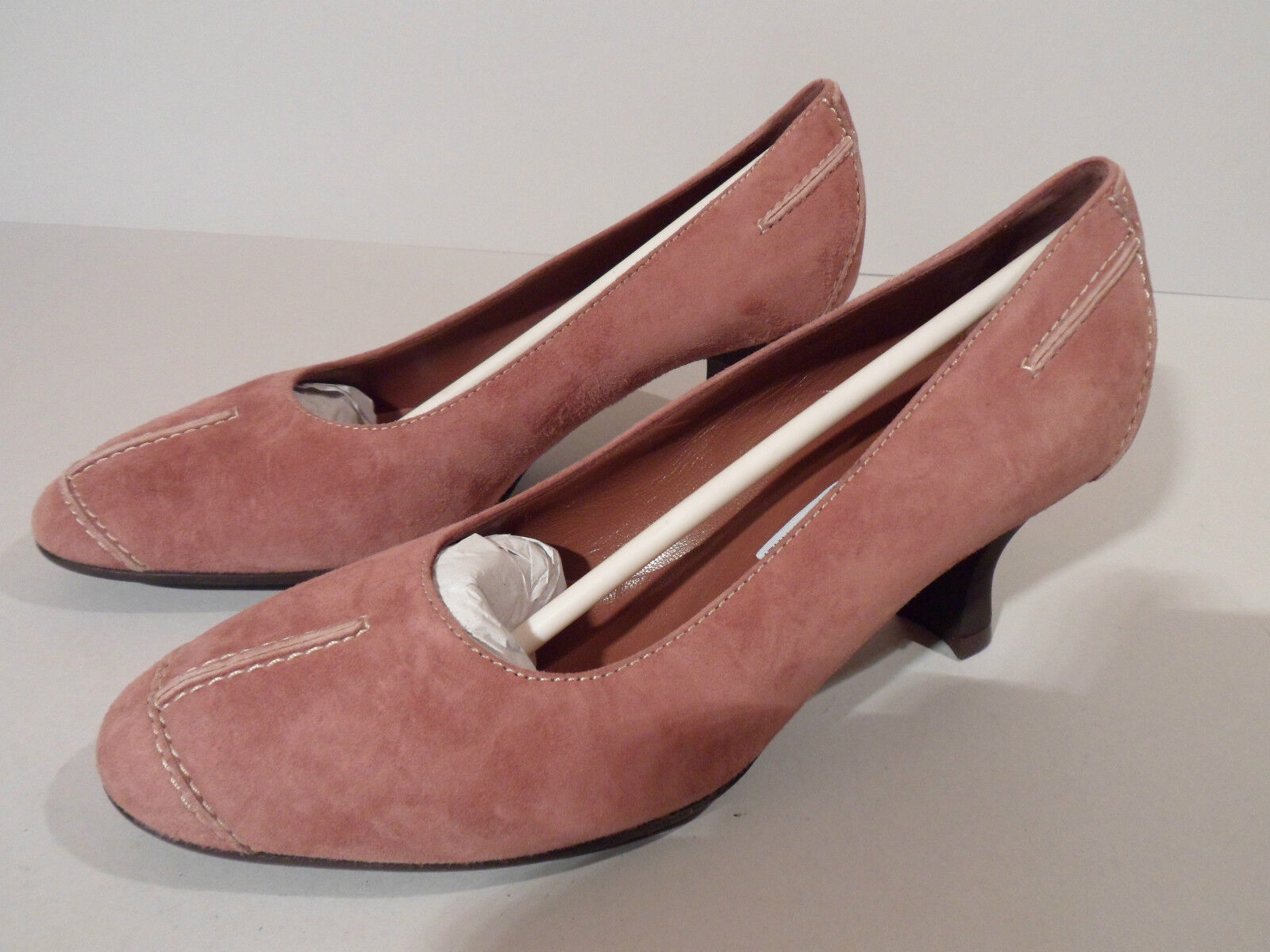 Brunella Ladies Pink Rose Suede Shoes with Heel EU 34 UK 2 Italian