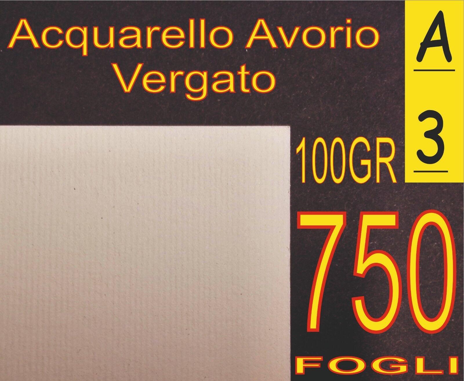 presentando tutte le ultime tendenze della moda 750 FOGLI A3 CARTA 100GR 100GR 100GR GRIFO VERGATA RILIEVO AVORIO X STAMPANTI LASER INKJET  lo stile classico