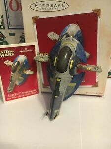 Slave-1-Starfighter-Christmas-Hallmark-Keepsake-Star-Wars-Ornament-New-IB