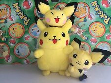 Pokemon Center Plush Set Pikachu Pichu bros Pokedoll 2001 stuffed figure doll