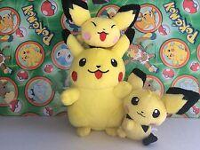 Pokemon Center Plush Set Pikachu Pichu bros Pokedoll 2001 stuffed figure doll