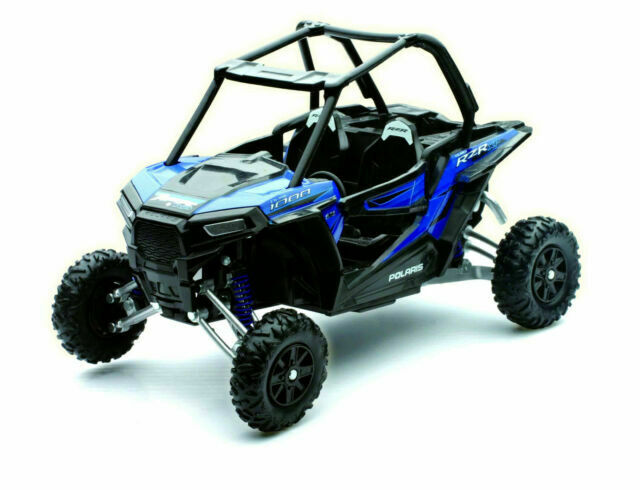 Newray 1 18 Polaris Rzr Xp 1000 Sport Atv Dirt Bike Woodoo Blue Model 57593b For Sale Online Ebay