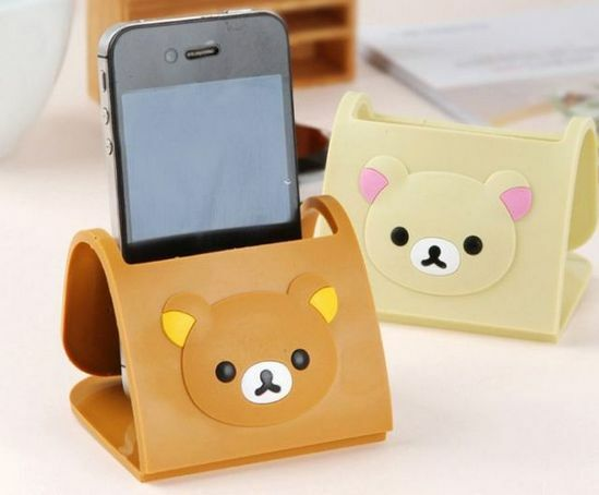 Cute bear iphone mobile cell phone holder stand HTC Samsung UK Seller