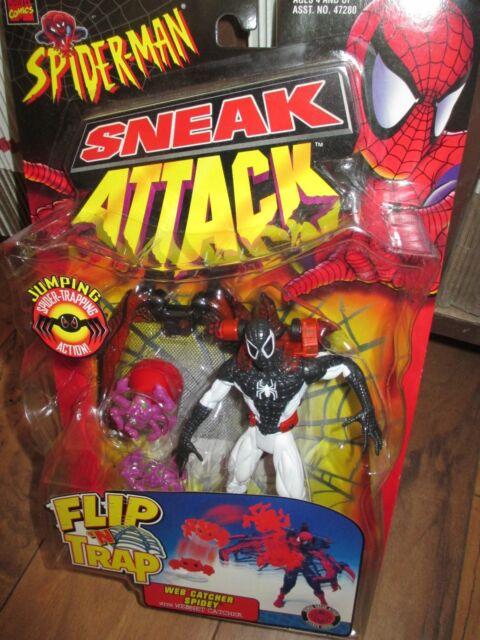 Toy Biz Sneak Attack Flip 'N Trap Web Catcher Spidey Spider-man Negative Zone