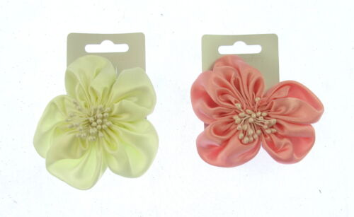 party small hair flower clip in satin 8 cm  weddings