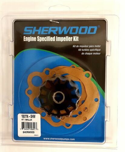 Water Pump Impeller kit with Gaskets Sherwood 10077K shw