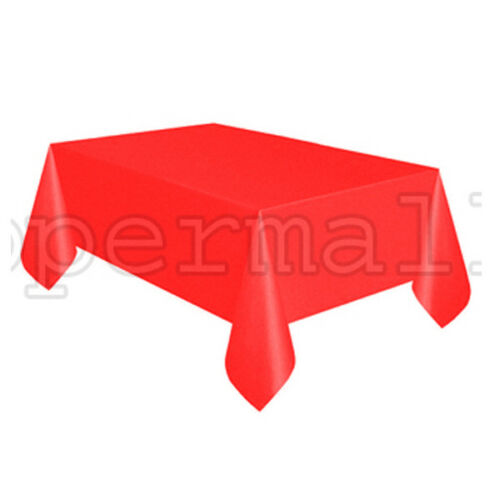 """54/"""" x 108/"""" Tablecloth Rectangle Plastic Party Color Table Cover BUY 2 GET 1 FREE"""