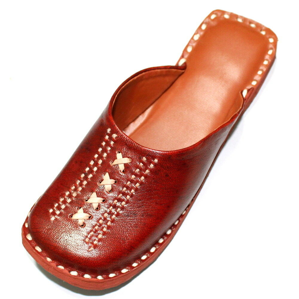 Women leather mojari punjabi jutti slippers shoes handmade traditional punjabi mojari US style f869ad