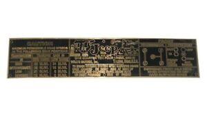 Dash-Transmission-Caution-Brass-Made-Data-Plate-Willys-Jeep-CJ2A-CJ3A-CJ3B