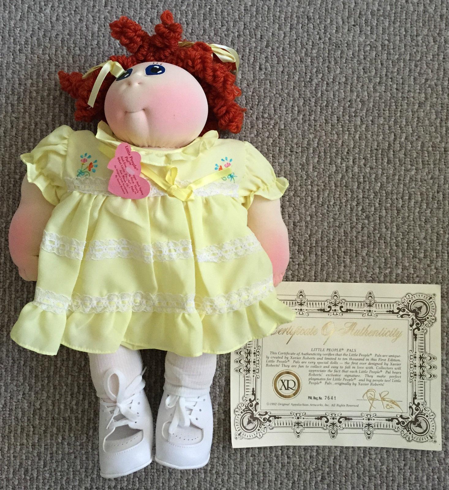 Jahr  NEW klein menschen Pals Cabbage Patch Kid XAVIER ROBERTS Doll 1982  7641