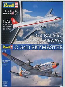 REVELL-04877-04947-Douglas-C-54D-SKYMASTER-DC-4-BALAIR-1-72-Bausatz-Kit