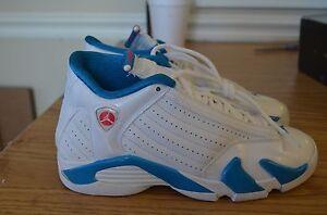 san francisco 266d3 49ad2 Details about Nike Air Jordan 14 XIV Retro GS White Siren Red Neptune Blue  467798-107