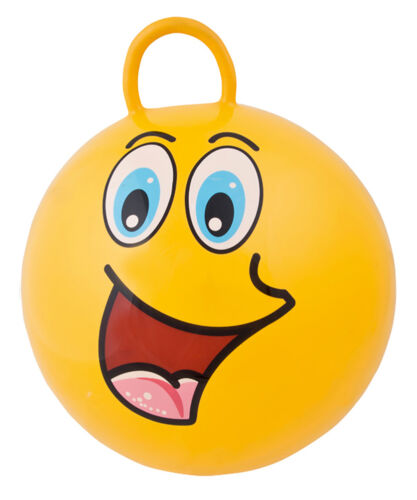 1 x Hüpfball Hüpfbälle Skippy-Ball Hopser Springball 6 Farben 45 cm Funny Faces Business & Industrie