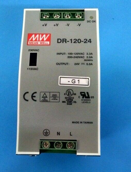 MEAN WELL DR-120-24 AC-DC CONgreenER