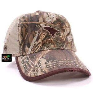 942901e4b2c DRAKE WATERFOWL FLYING DUCK LOGO TRUCKER HAT BALL CAP SHADOW BRANCH ...