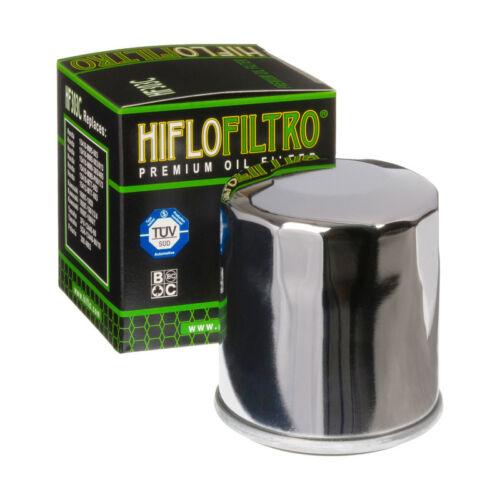 Hiflo HF303C Chrome Motorcycle Replacement Premium Engine Oil Filter