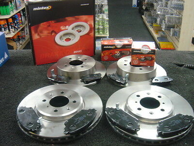 FRONT 2 BRAKE DISCS /& PADS SET *NEW* 2001-2005 ROVER MG ZR 160 /& MG ZS 180