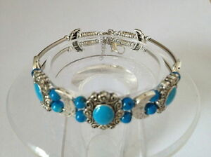 022 Beautiful Tibet Silver Jewelry Turquoise bracelet