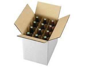 5 Pezzi Scatola Cartone Spedizione 12 Bottiglie - Vino - Liquori Con Separatore